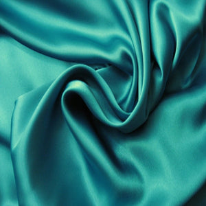This A Touch of Satin pillowcase is made from teal green charmeuse satin with French seams, washable and dryer safe.