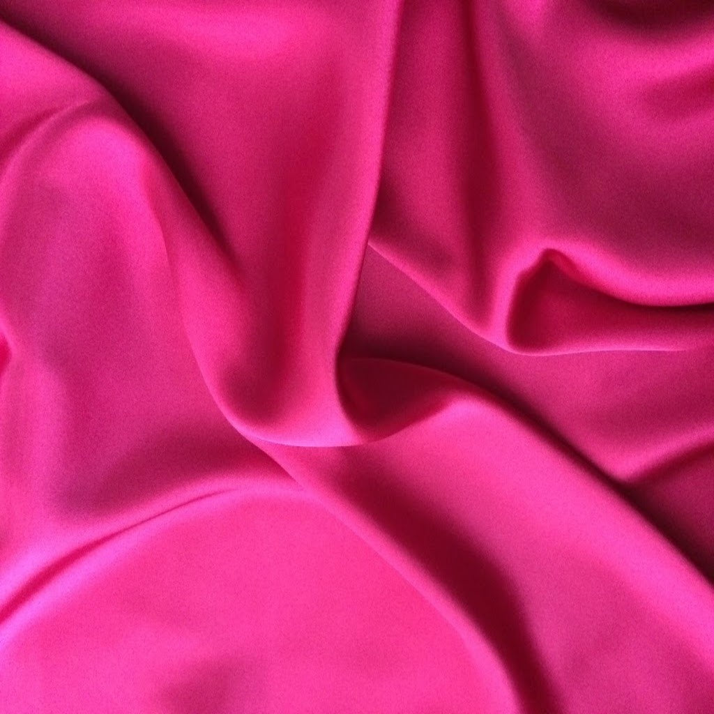 This A Touch of Satin pillowcase is made from bubblegum pink charmeuse satin with French seams, washable and dryer safe.