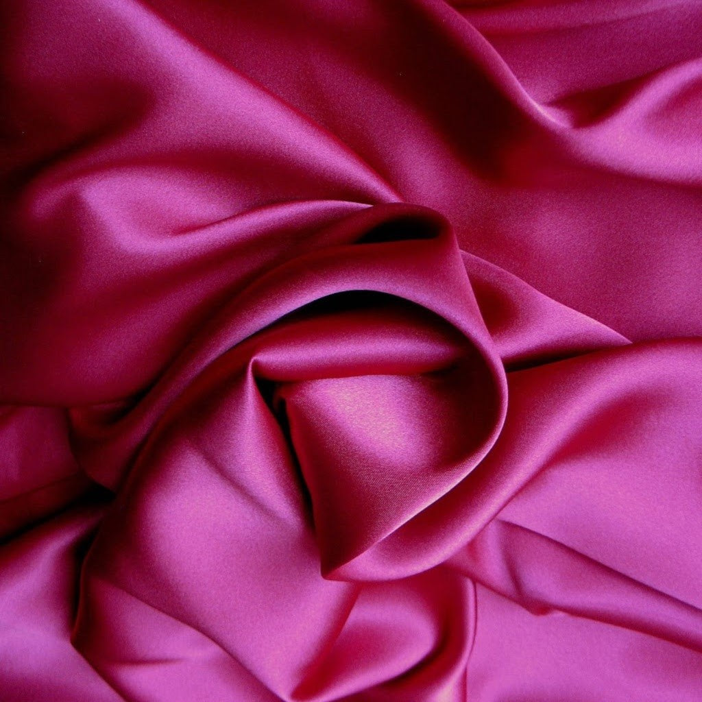 This A Touch of Satin pillowcase is made from magenta charmeuse satin with French seams, washable and dryer safe.