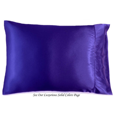 This A Touch of Satin pillowcase is made from a silky blue charmeuse satin, sewn with French seams and is washable.