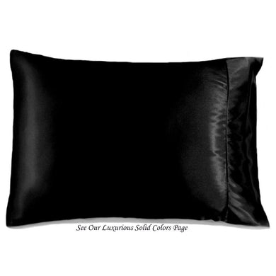 This A Touch of Satin pillowcase is made from silky smooth black charmeuse satin, sewn with French seams and is washable.