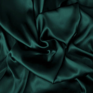 This A Touch of Satin pillowcase is made from hunter green charmeuse satin with French seams, washable and dryer safe.