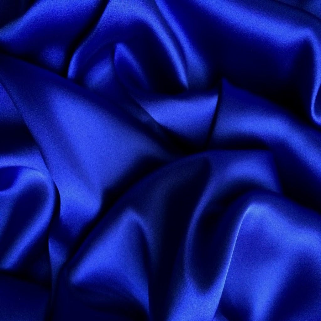 This A Touch of Satin pillowcase is made from royal blue charmeuse satin with French seams, washable and dryer safe.
