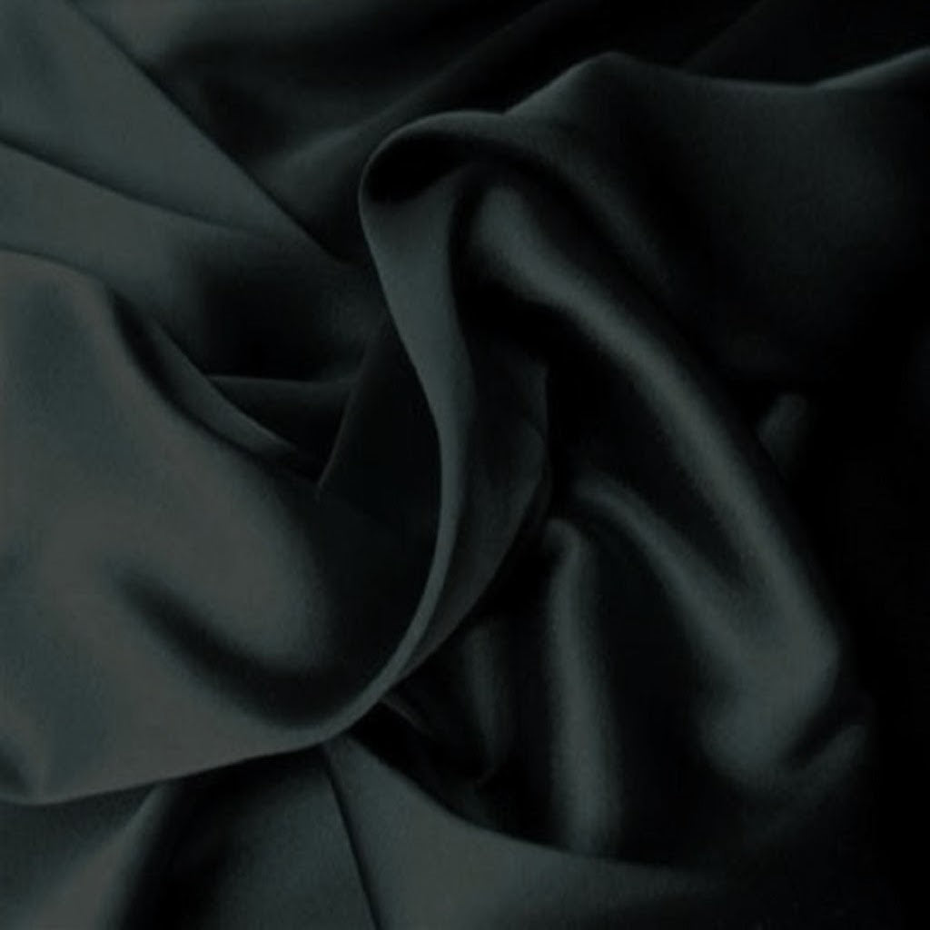 This A Touch of Satin pillowcase is made from silky black charmeuse satin with French seams, washable and dryer safe.
