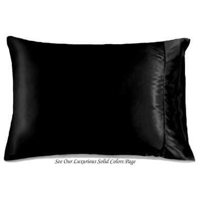 This decorative accent pillow is made from silky soft black charmeuse satin. The pillow feels
