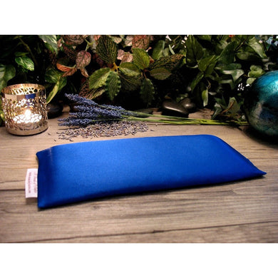 This meditation eye pillow is made with royal blue charmeuse satin, filled with organic flaxseed for unscented or choose organic lavender.