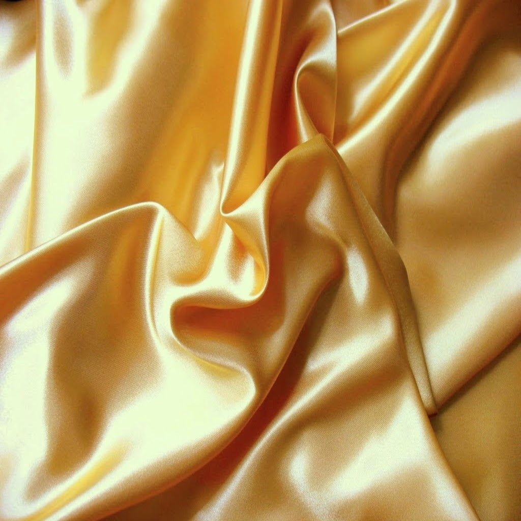 This A Touch of Satin pillowcase is made from light gold charmeuse satin with French seams, washable and dryer safe.