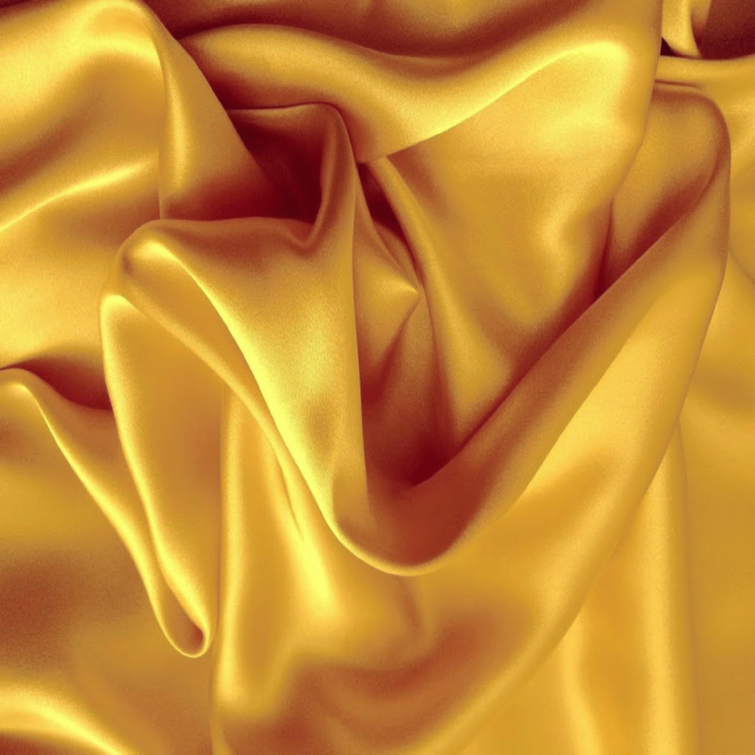 This A Touch of Satin pillowcase is made from gold charmeuse satin with French seams, washable and dryer safe.