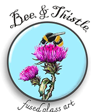 Bee and Thistle Glass Art