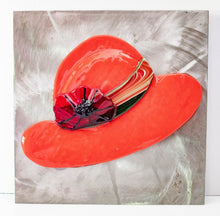 Load image into Gallery viewer, Decorative - Red hat and flower