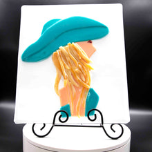 Load image into Gallery viewer, Decorative - Woman in turquoise hat