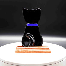 Load image into Gallery viewer, Animal - Black cat with blue collar profile