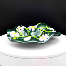 Load image into Gallery viewer, Bowl - Green with spring flowers