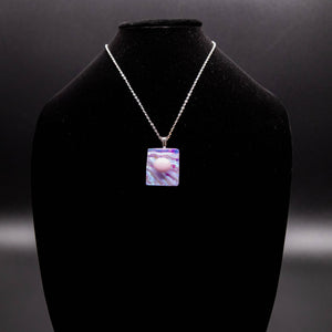 Jewelry - pink iridescent square pendant