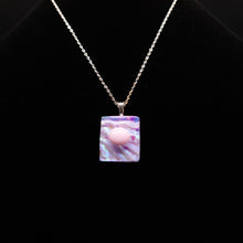 Load image into Gallery viewer, Jewelry - pink iridescent square pendant