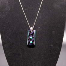 Load image into Gallery viewer, Jewelry - Purple and turquoise iridescent pendant