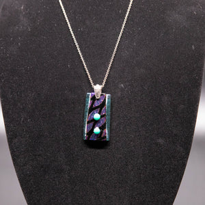 Jewelry - Purple and turquoise iridescent pendant