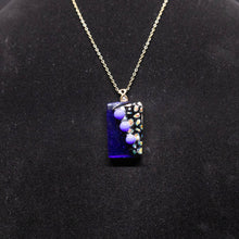 Load image into Gallery viewer, Jewelry - Navy blue rectangular pendant