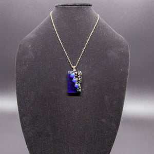 Jewelry - Navy blue rectangular pendant