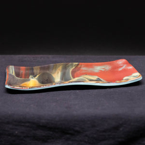 Plate - Asian mountain patterned small rectangular platter