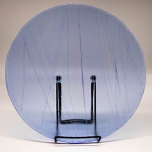 Load image into Gallery viewer, Plate - Clear blue iridescent wave patterned large round platter