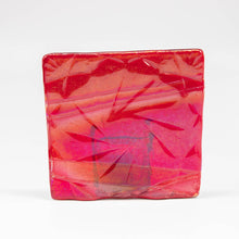 Load image into Gallery viewer, Votive holder - Modern art patterned votive in red iridescent
