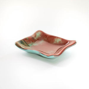 Bowl - Asian mountain patterned rectangular dish