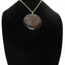 Load image into Gallery viewer, Jewelry - Extra large black round pendant
