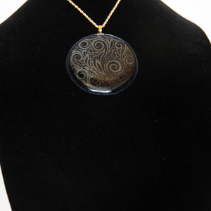 Jewelry - Extra large black round pendant