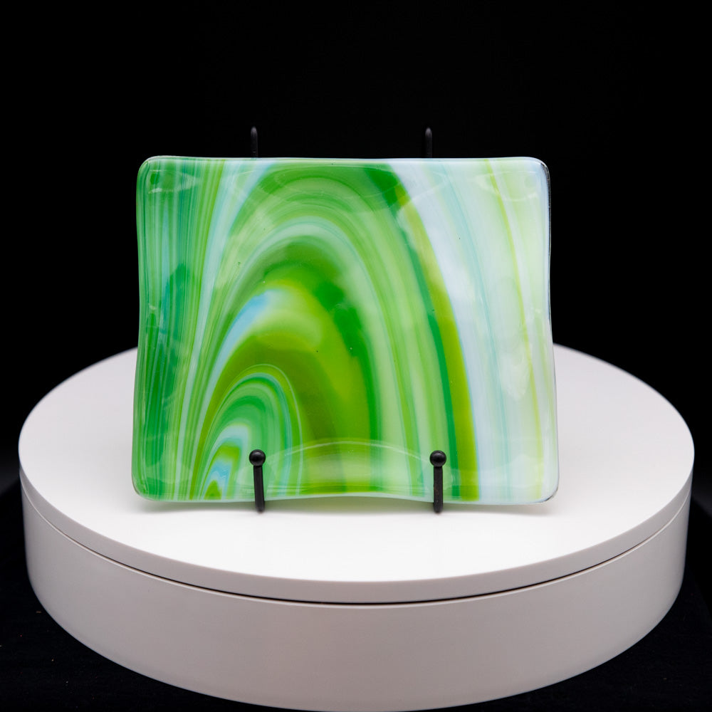 Plate - Spring swirl patterned rectangular platter
