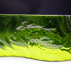 Tile - Green glass wave with koi fish