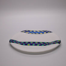 Load image into Gallery viewer, Plate - Modern white with dichroic wave