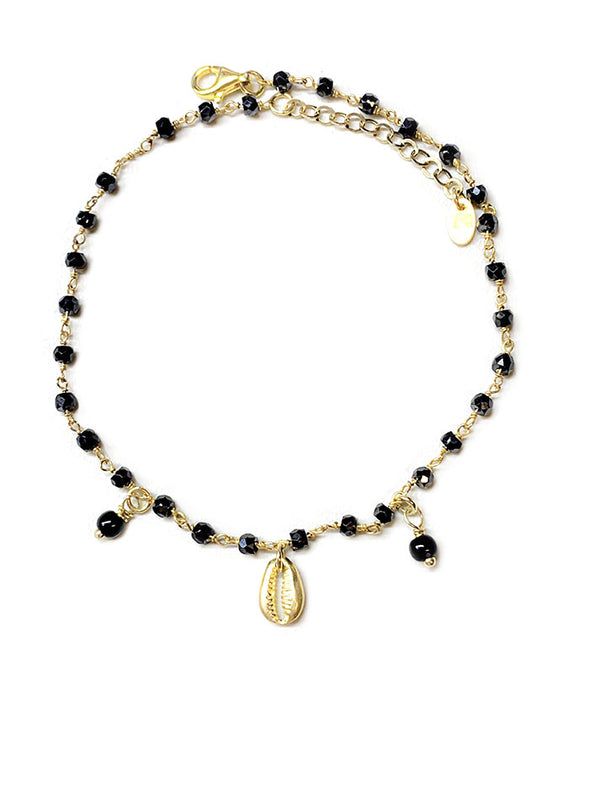 Black Shell Anklet