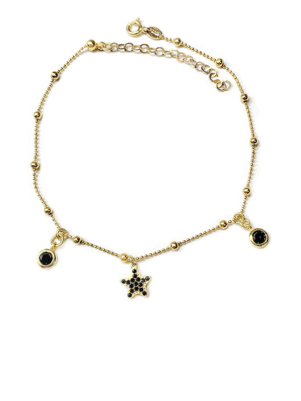 Black Star Anklet