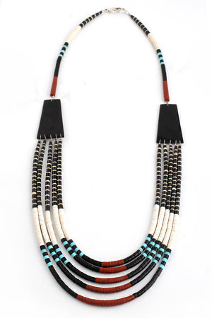 Load image into Gallery viewer, Santo Domingo 5 Strand Heishi Necklace
