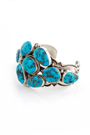 Load image into Gallery viewer, Aaron Toadlena Blue Turquoise Cuff