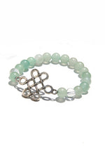 Aventurine Endless Knot Power Bracelet