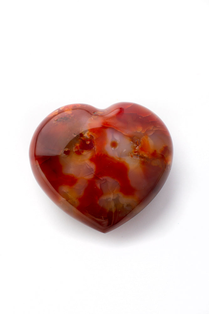 Load image into Gallery viewer, Carnelian Crystal Heart