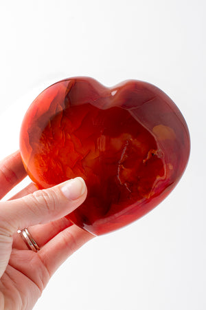 Load image into Gallery viewer, Large Carnelian Heart