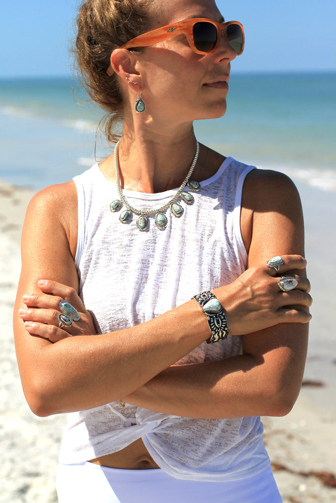 Dry Creek White Turquoise Necklace Set