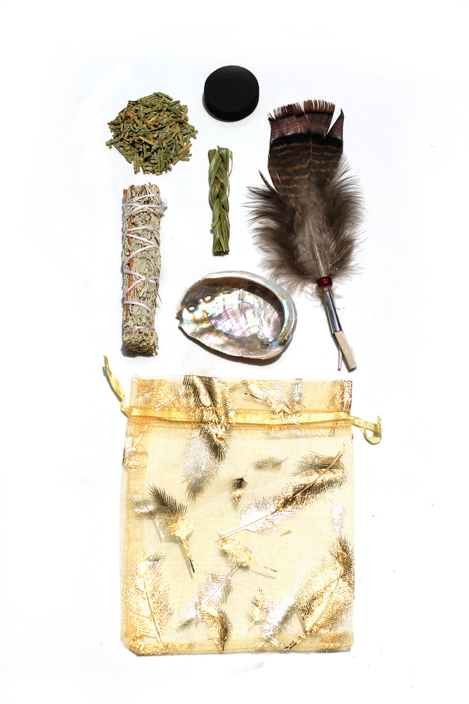 Deluxe Mini White Sage Smudging Kit