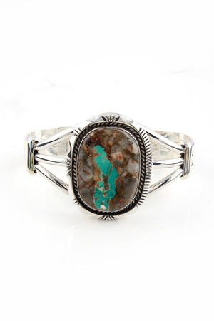 Load image into Gallery viewer, Eugene Belone Boulder Turquoise Bracelet
