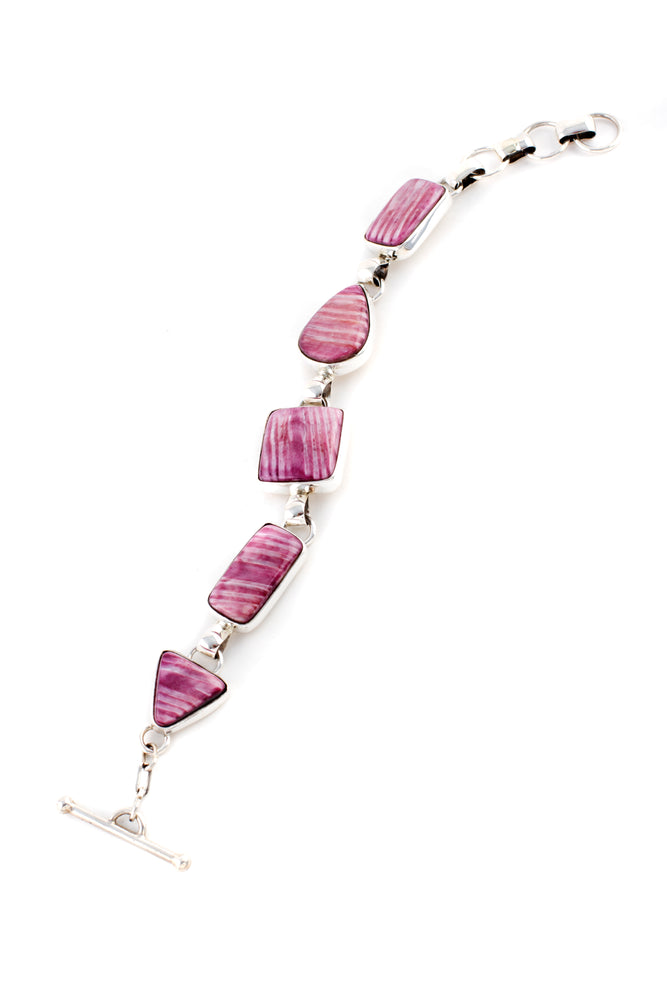 Purple Spiny Oyster Link Bracelet