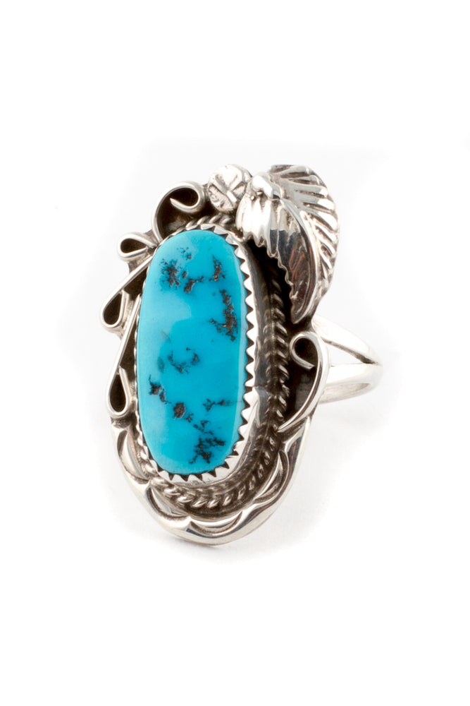 Load image into Gallery viewer, Navajo Traditional Turquoise Ring (Size 7)