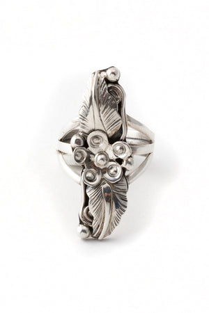 Navajo Sterling Silver Applique Ring Size (6 ½)