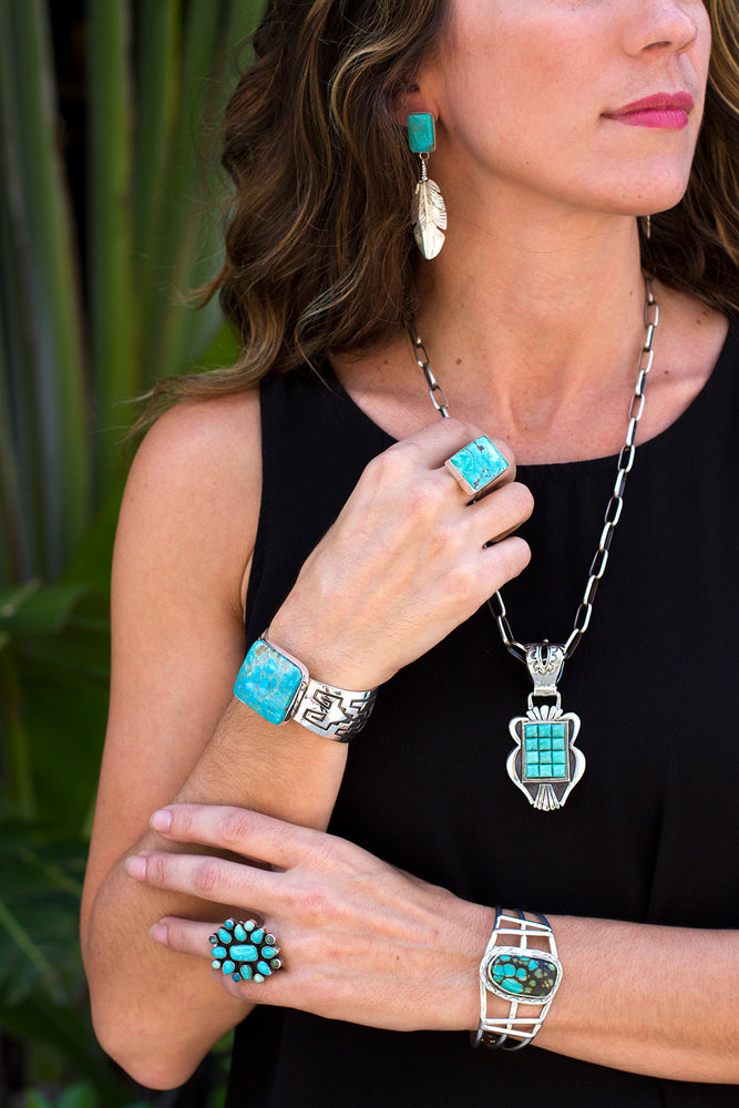 Load image into Gallery viewer, Navajo Turquoise Jewelry