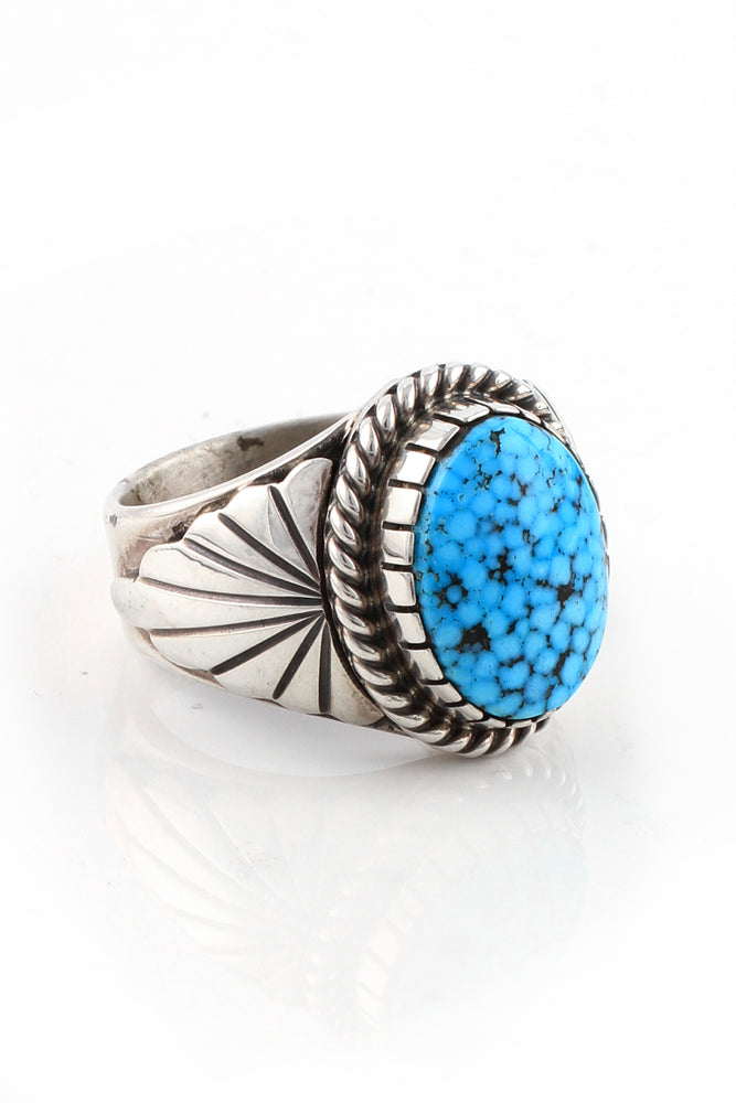 Kingman Turquoise Navajo Men's Ring (Size 11.5)