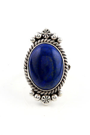 Load image into Gallery viewer, M. Spencer Navajo Lapis Lazuli Ring (Size 7)