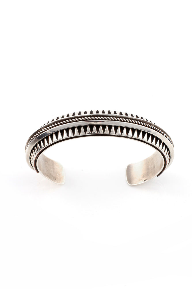 Leander Tahe Overlay Silver Cuff