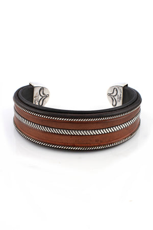 Load image into Gallery viewer, Jerry Tucker Men's Leather Bracelet